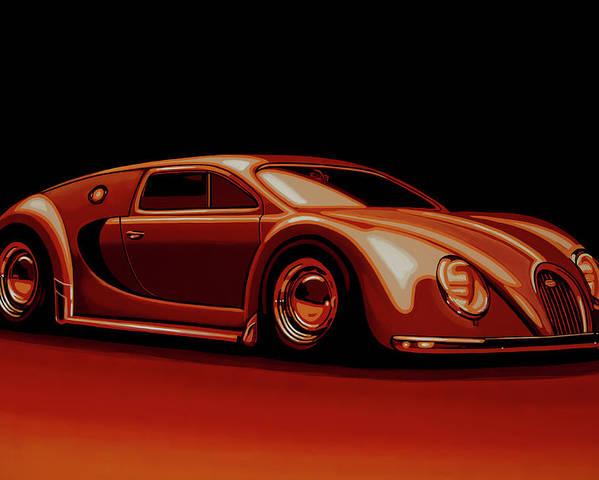 Bugatti Veyron 'Beetgatti' 1945 Painting Poster by Paul ...