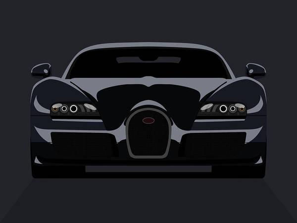 Bugatti Poster featuring the digital art Bugatti Veyron Dark by Michael Tompsett