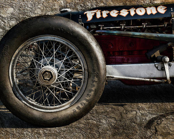 Buick Poster featuring the digital art Buick Shafer 8 by Peter Chilelli