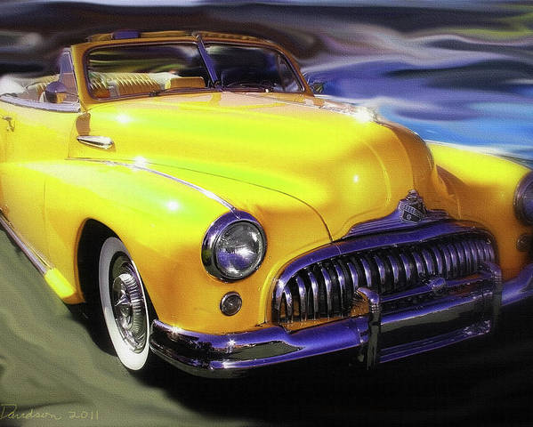 Buick Poster featuring the photograph Buick Time Warp by Patricia L Davidson