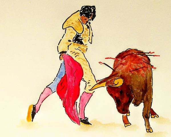 Spain Poster featuring the painting Bull Fighter by Leo Gordon