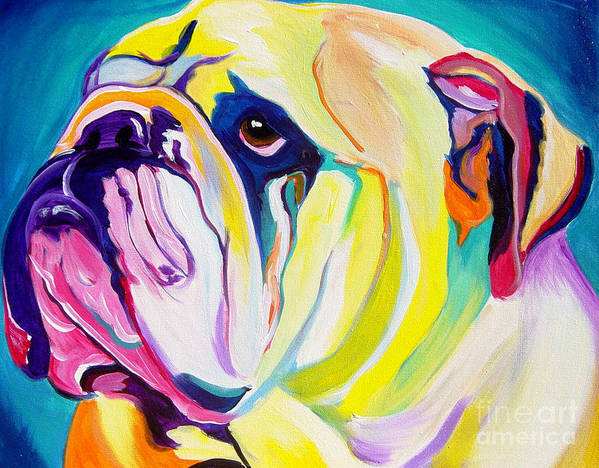 English Poster featuring the painting Bulldog - Bully by Alicia VanNoy Call