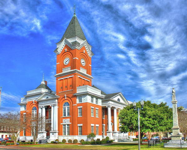 Bulloch County Courthouse Statesboro Georgia Poster By Reid Callaway