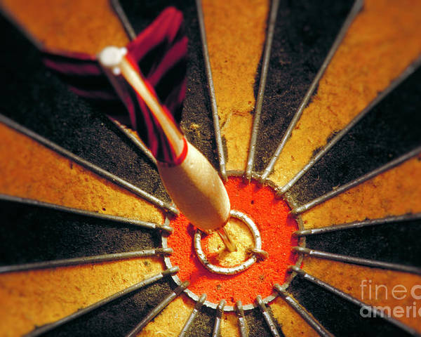 Accuracy Poster featuring the photograph Bulls Eye by John Greim