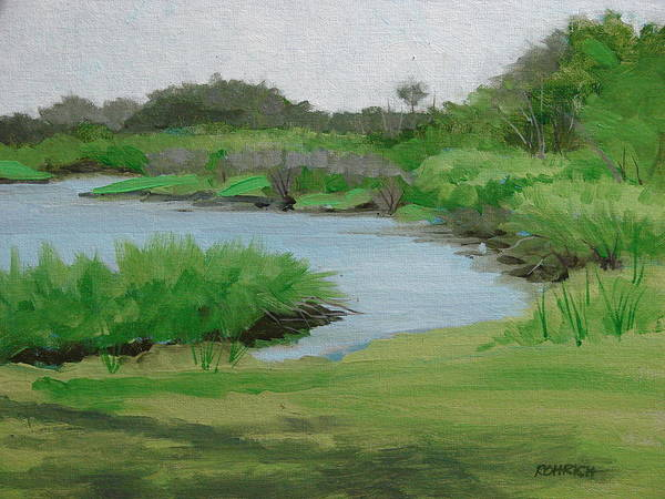 Landscape Poster featuring the painting Bulow Woods Creek by Robert Rohrich