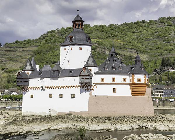 Teresa A Mucha Poster featuring the photograph Burg Pfalzgrafenstein In Kaub Germany by Teresa Mucha