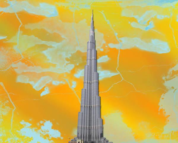 Burj Khalifa Poster featuring the digital art Burj Khalifa by Yaser Saad