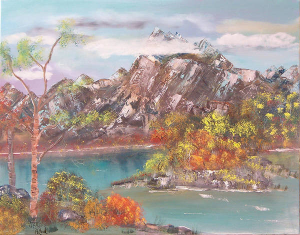Landscape Poster featuring the painting Burning Bush by Mikki Alhart