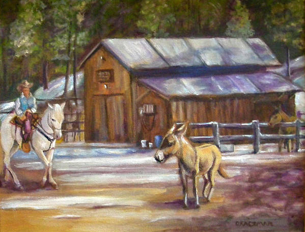 Landscape Poster featuring the painting Little Jack At Old Town by Olga Kaczmar