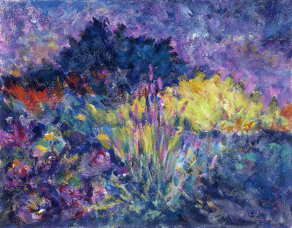 Impressionism Poster featuring the painting Burst Of Color-last Night In Monets Gardens by Tara Moorman