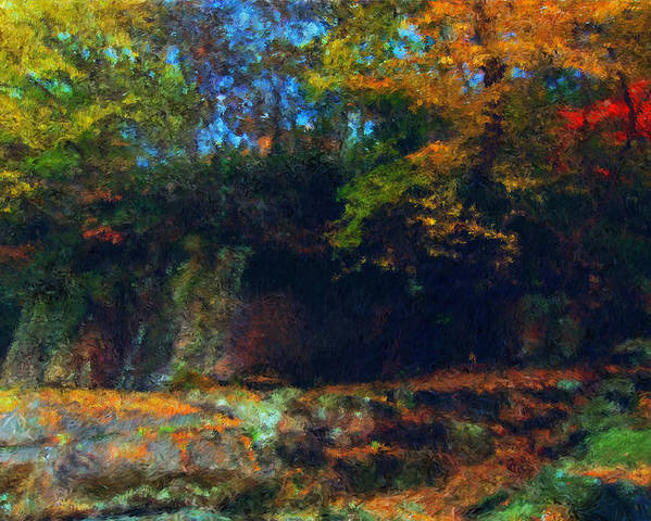 Autumn Poster featuring the digital art Bursting Autumn Cheer by Stephen Lucas