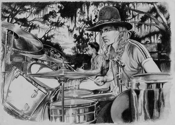 Butchtrucks Poster featuring the drawing Butch Trucks by Art Imago