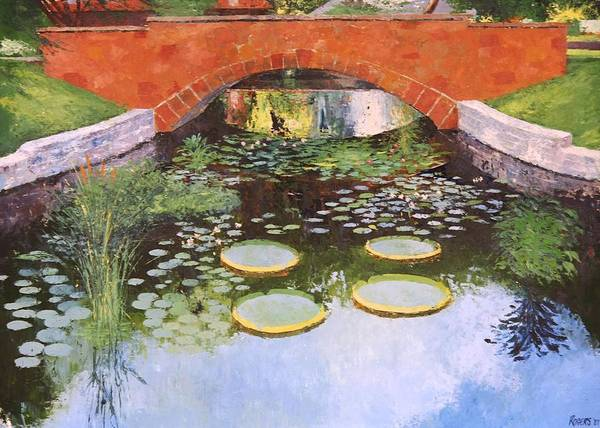 Original Oil Paintings Poster featuring the painting Butler's Pond by Cheryl Rogers