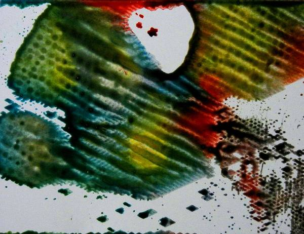 Abstract Poster featuring the painting Butterfly Effect by Kruti Shah