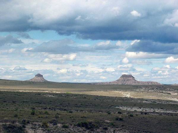 Big Sky Poster featuring the photograph Buttes by Margaret Fortunato