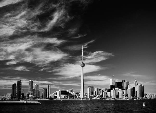 Toronto Poster featuring the photograph Bw Skyline Of Toronto by Andriy Zolotoiy
