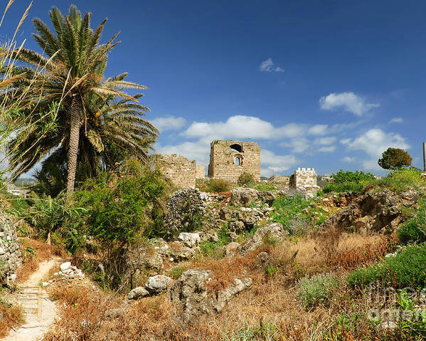 Byblos Poster featuring the photograph Byblos Castle, Lebanon by Ivan Batinic