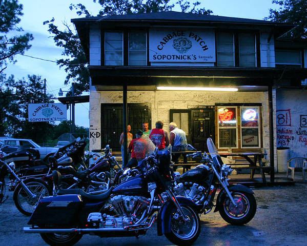Cabbage Patch Bikers Bar Poster featuring the photograph Cabbage Patch Bikers Bar by Kristin Elmquist