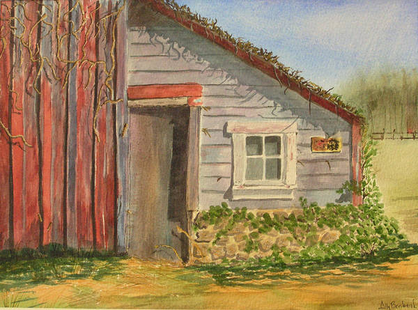 Cabin Poster featuring the painting Cabin Fever by Ally Benbrook