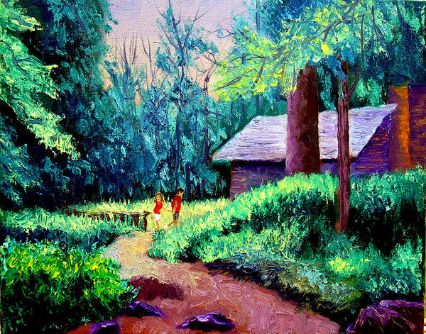 Alla Prima Poster featuring the painting Cabin in Woods by Stan Hamilton