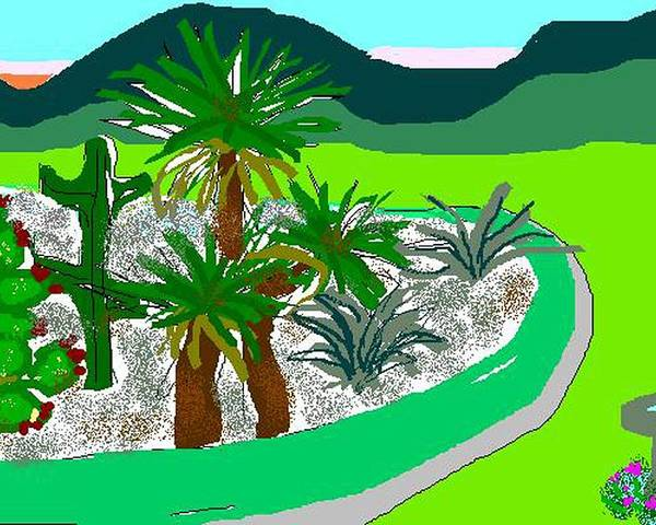 Cactus Poster featuring the digital art Cactus Garden by Carole Boyd