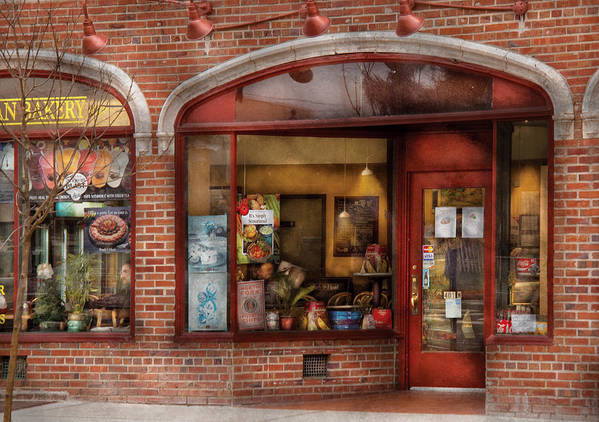 Cafe Poster featuring the photograph Cafe - Westfield Nj - Tutti Baci Cafe by Mike Savad