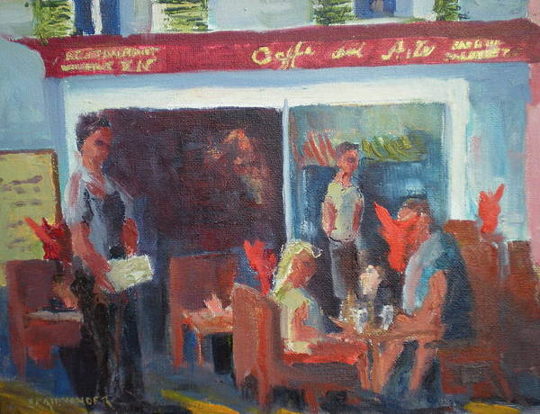 French Cafe Poster featuring the painting Cafe Dell Arte by Bryan Alexander