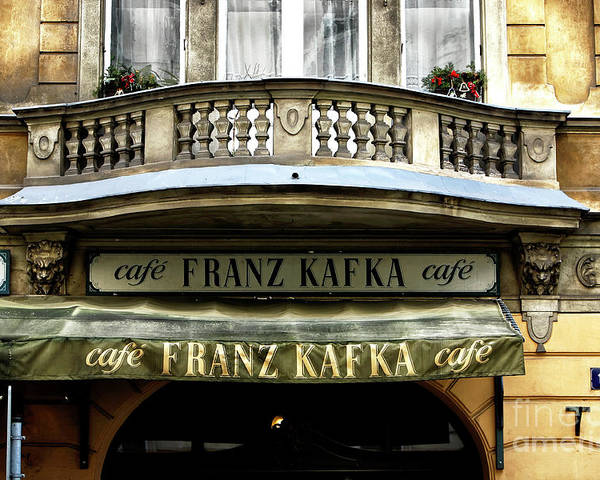Cafe Franz Kafka Poster featuring the photograph Cafe Franz Kafka by John Rizzuto