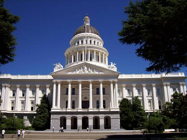 California Poster featuring the photograph California Capitol by Tracy Dugas