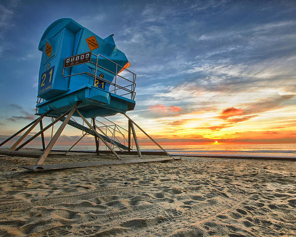 Sunset Poster featuring the photograph California Dreaming by Larry Marshall