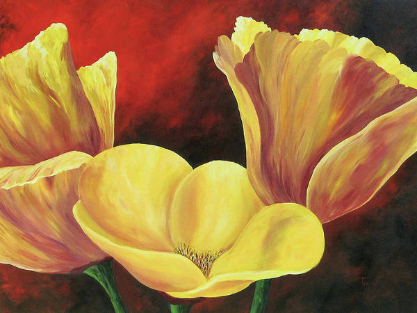 Poppies Poster featuring the painting California Poppies Iv by Torrie Smiley