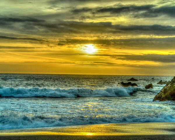 Cali Poster featuring the photograph California Sunset by Chris Tobin