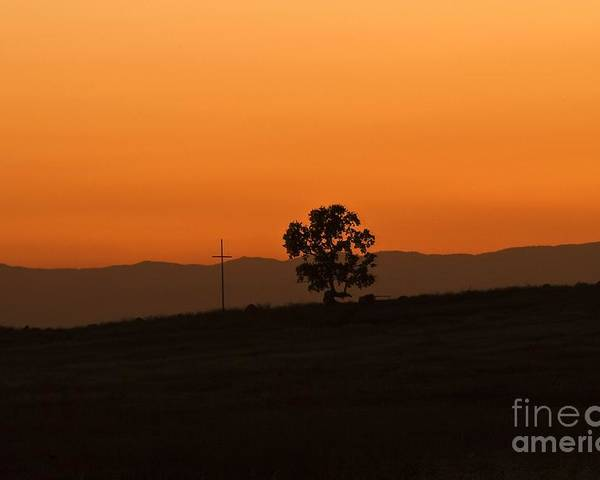 Landscape Poster featuring the photograph California Sunset by Richard Verkuyl