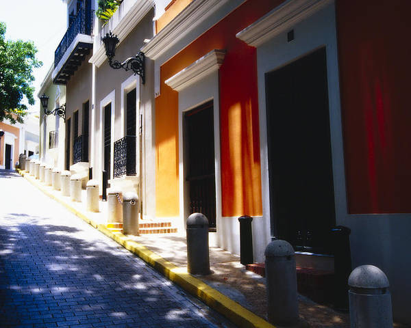 Street Photography Poster featuring the photograph Calle Del Sol Old San Juan Puerto Rico by George Oze