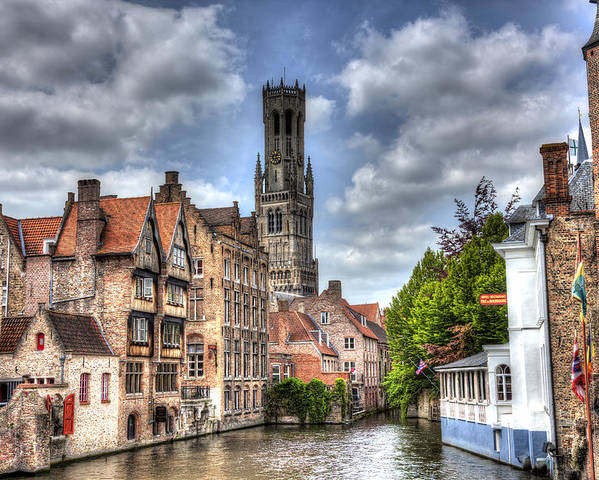 Bruges Poster featuring the photograph Calm Afternoon in Bruges by Shawn Everhart
