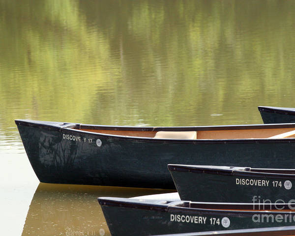 Canoe Poster featuring the photograph Calm Morning by Jeannie Burleson