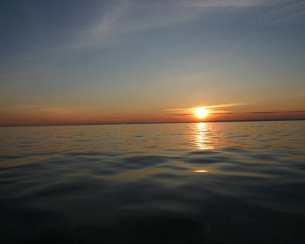 Sunset Poster featuring the photograph Calm Water Sunset by Kevin Dunham
