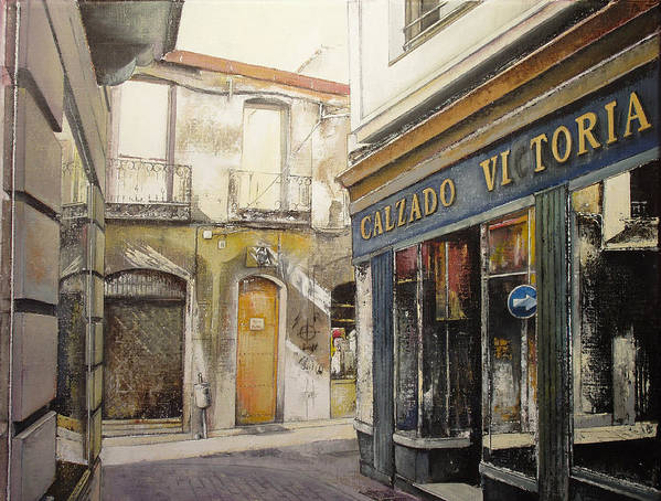 Calzados Poster featuring the painting Calzados Victoria-leon by Tomas Castano