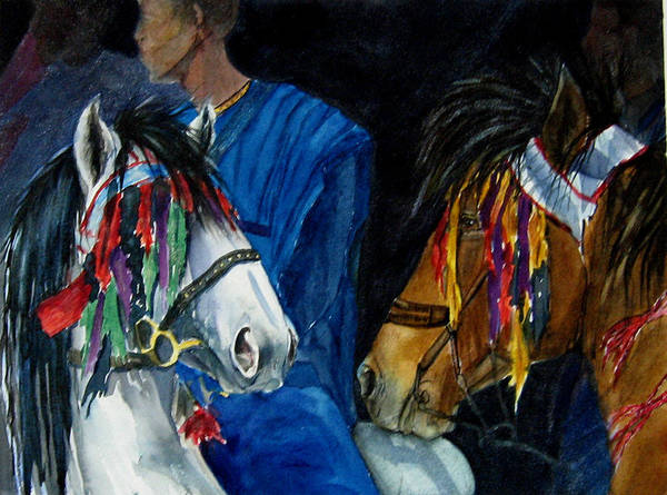 Equine Poster featuring the painting Camaroon by Gina Hall