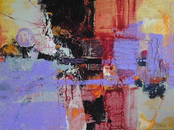 Mixed Media Poster featuring the mixed media Cambodian Dusk by Jo Ann Brown-Scott