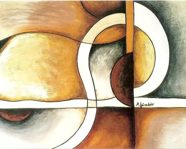 Contemporary Abstract Poster featuring the painting Camino Encontrado by Marta Giraldo