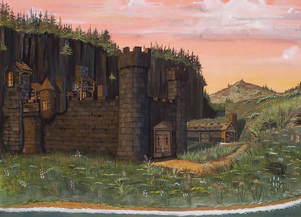 Isle Of Skye Poster featuring the painting Camlochlin Castle by James Lyman