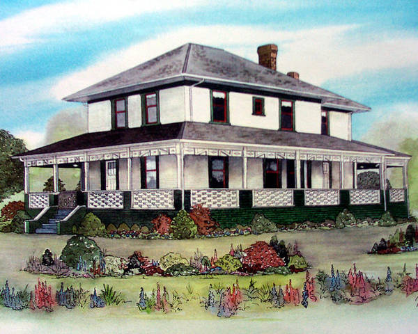House Poster featuring the painting Cammidge House by Victoria Heryet