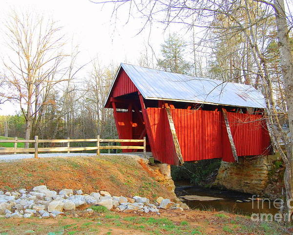 Covered Bridge Poster featuring the photograph Campbell's Covered Bridge by Diane Toro