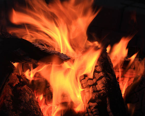 Fire Poster featuring the photograph Campfire by Robert Hamm