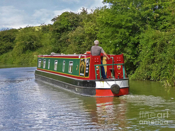 Canal Poster featuring the photograph Canal Boat by Terri Waters