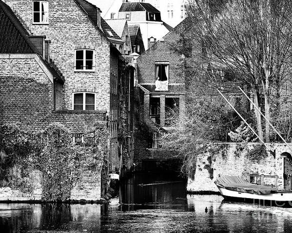 Canal Living In Bruges Poster featuring the photograph Canal Living In Bruges by John Rizzuto