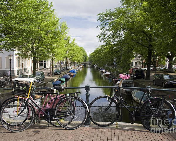Amsterdam Poster featuring the photograph Canal Of Amsterdam by Joshua Francia