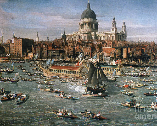 18th Century Poster featuring the photograph Canaletto: Thames, 18th C by Granger