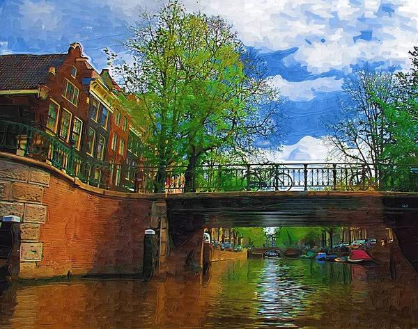 Amsterdam Poster featuring the photograph Canals Of Amsterdam by Tom Reynen